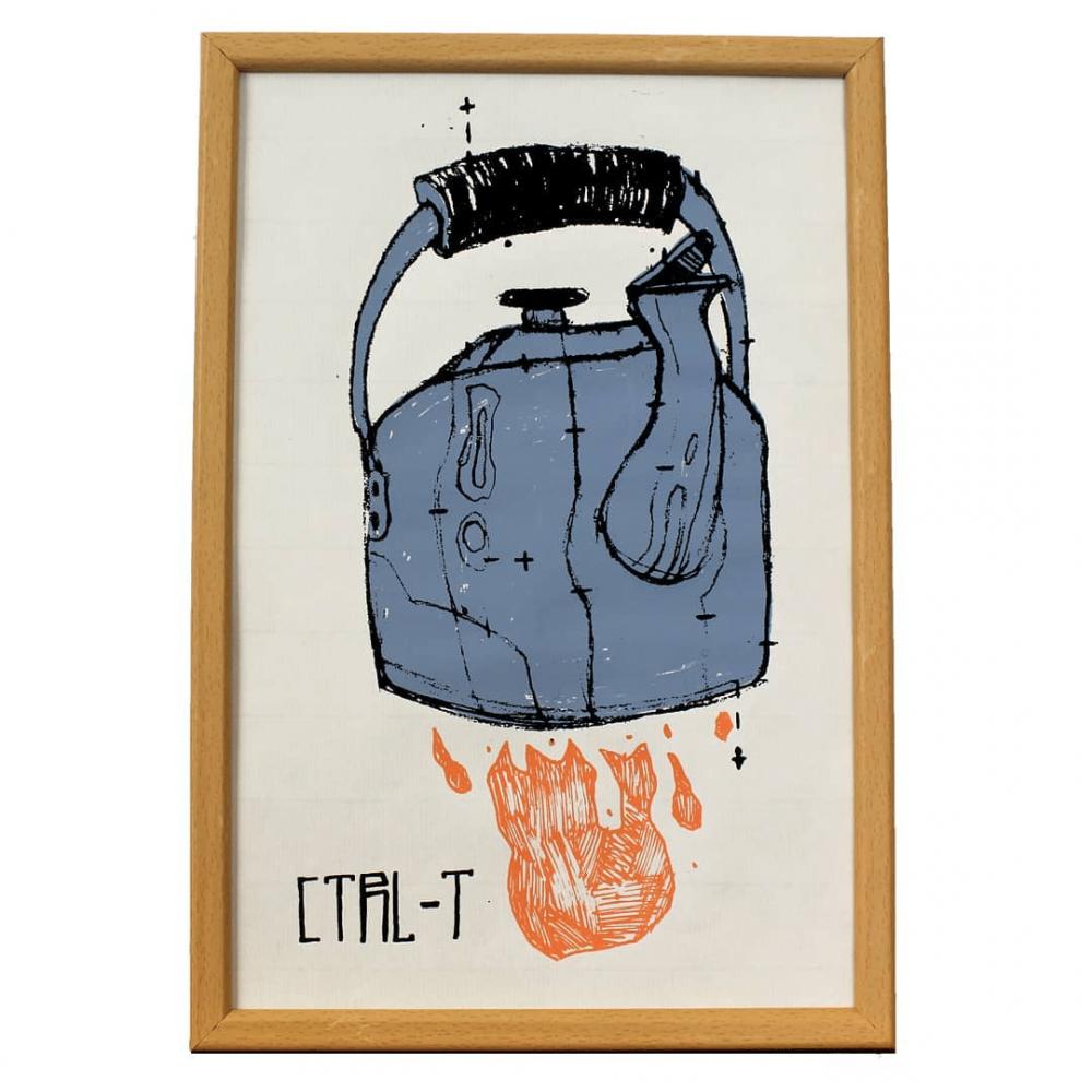 ציור דגיטלי -  T on fire!